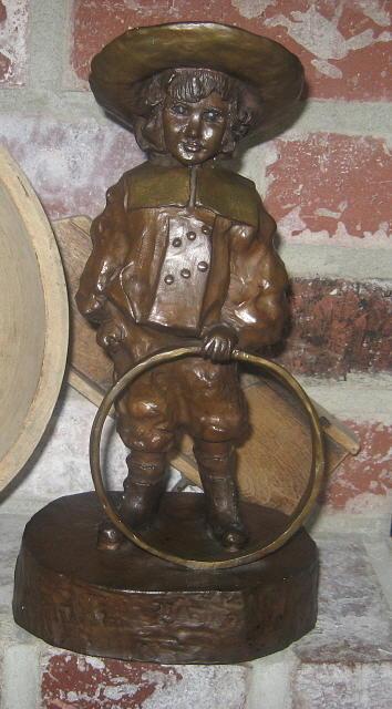 Boy Sculpture - Boy Wit A Hoop by Lila Witt Locati
