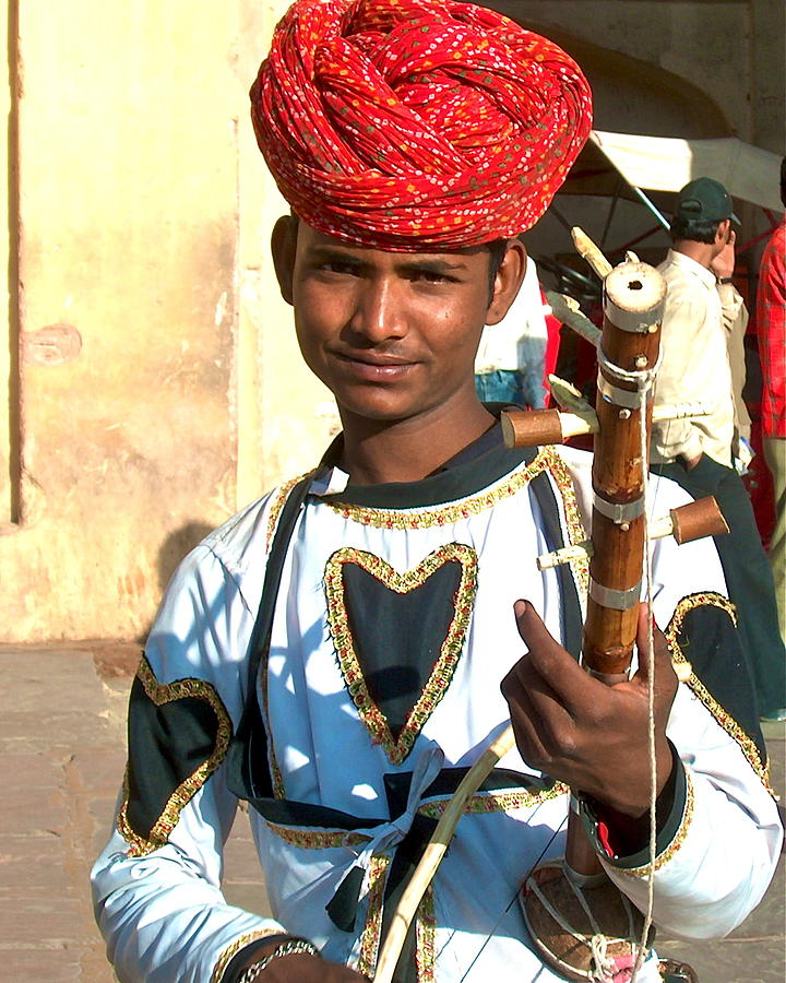 India Photograph - Boy With A Flute by Dorota Nowak