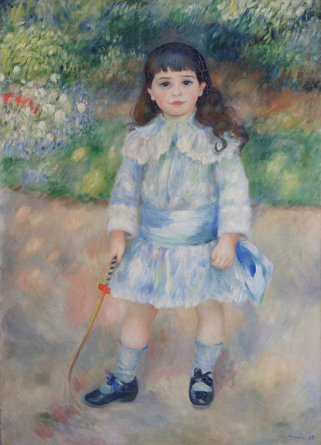 Impressionist Painting - Boy With A Whip by Pierre Auguste Renoir