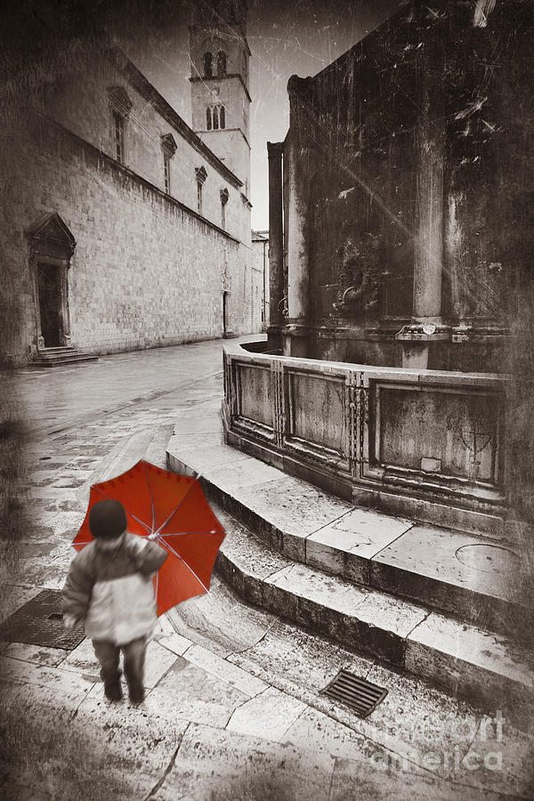 Boy Photograph - Boy With Umbrella by Rod McLean