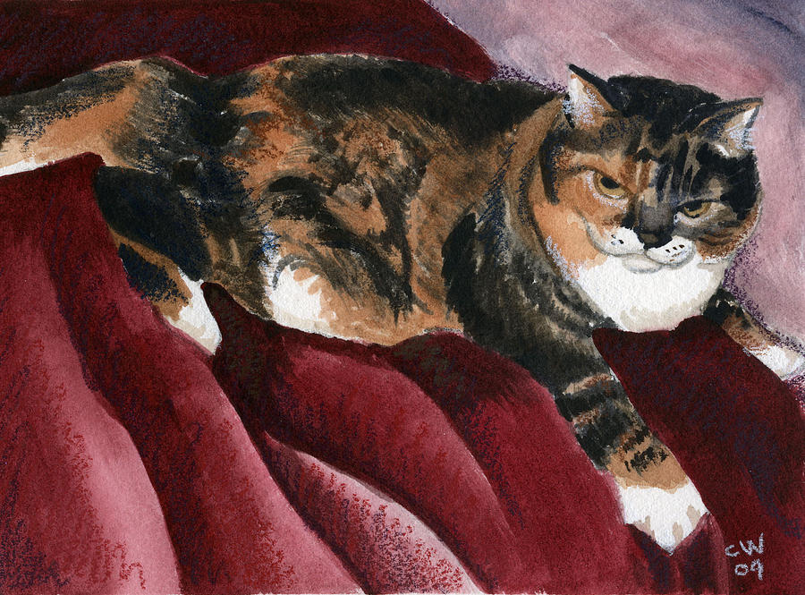 Cat Painting - Boylston by Christine Winship