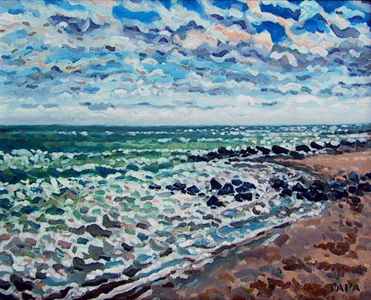 Rocks Painting - Boynton Shore by Ralph Papa