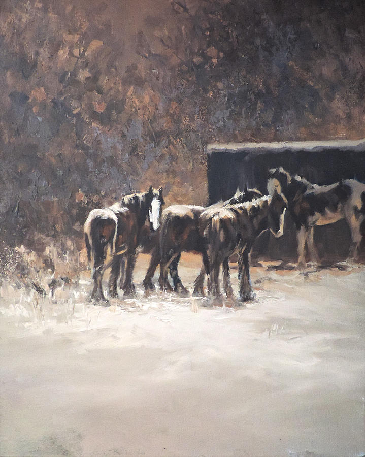 Horse Painting - Boys Club by Mia DeLode