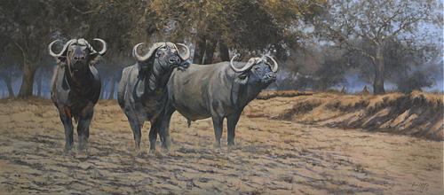 African Painting - Boys From Mana Pools by Paul Apps