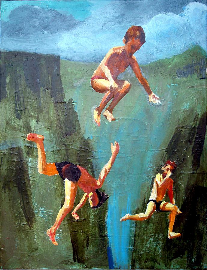Kids Painting - Boys Of Summer by Geoff Greene