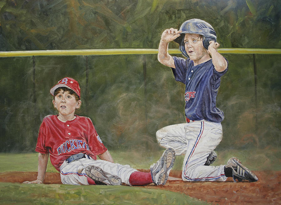 Baseball Painting - Boys of Summer by Jason  Swain