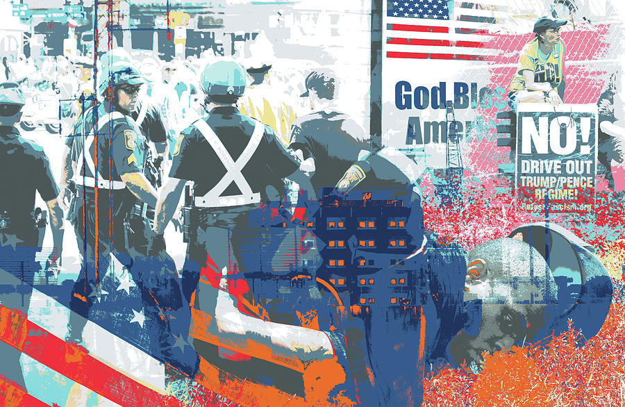 Boston Mixed Media - Boston Police Busted by Shay Culligan