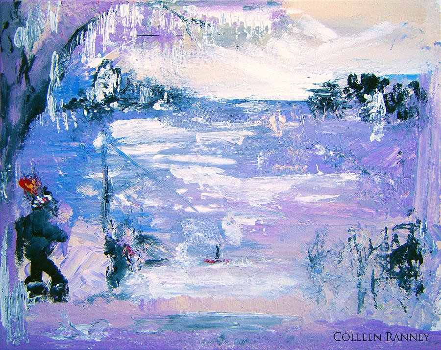 Nature Painting - Be Brave by Colleen Ranney by Colleen Ranney