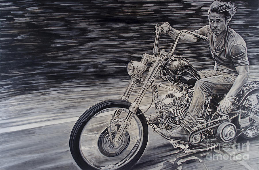 Canvas Oil Painting Motorcycle
