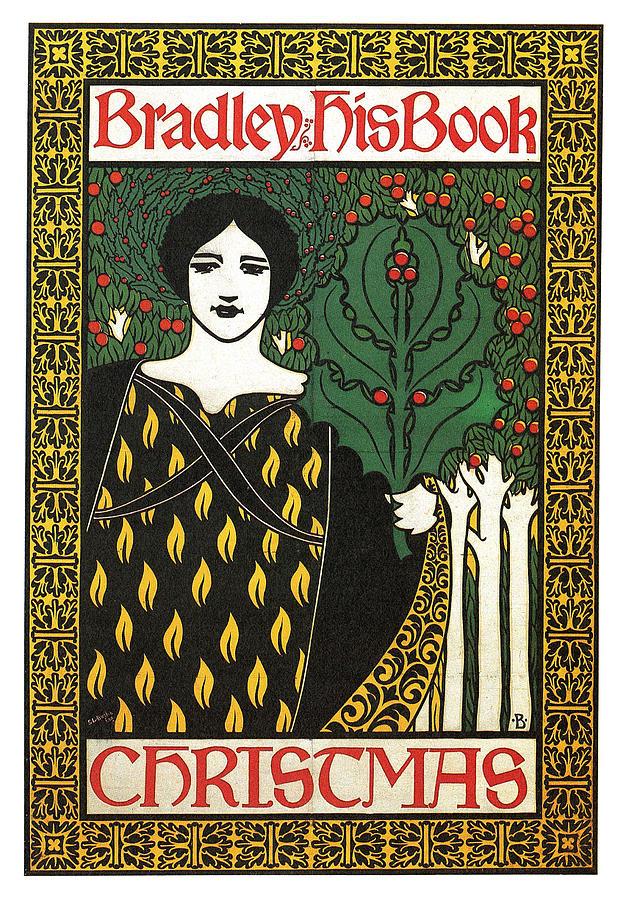 Bradley His Book - Christmas - Vintage Art Nouveau Poster ...