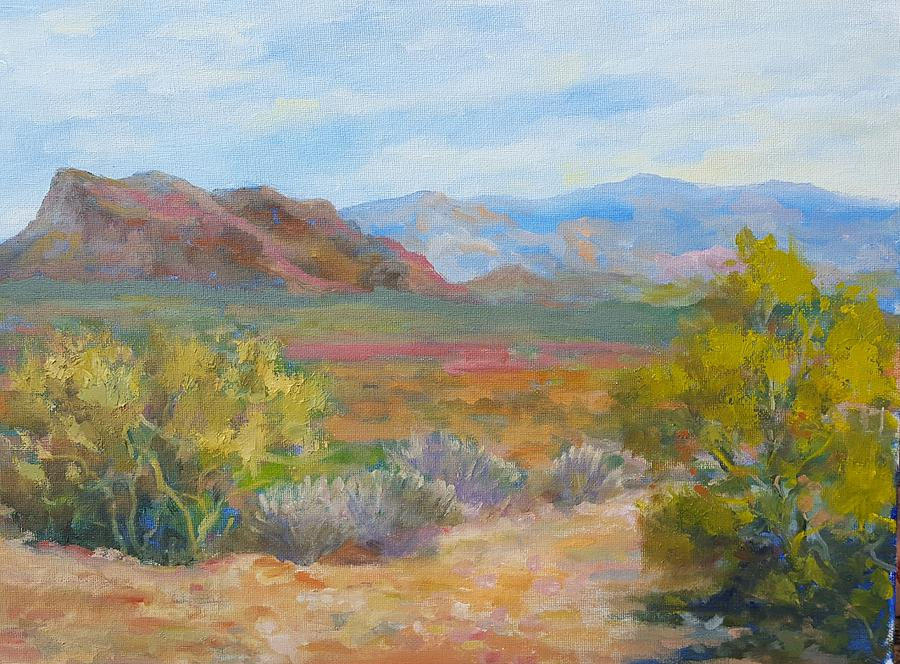 Phoenix Painting - Bradshaws, West Of Phoenix by Nora Sallows