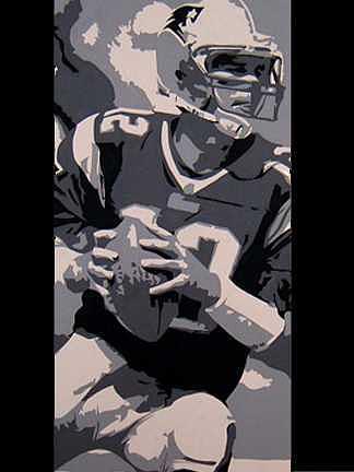 Football Painting - Brady by michael James Toomy