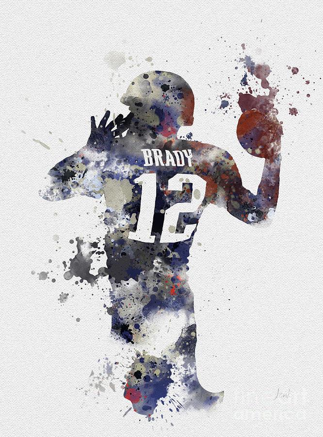 Tom Brady Mixed Media - Brady by My Inspiration
