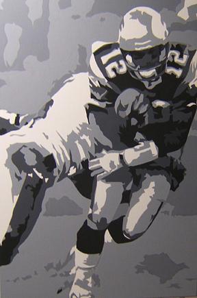 Tom Brady Painting - Brady Running by Michael James  Toomy