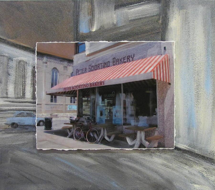 Brady Street - Peter Scortino Bakery Layered Mixed Media