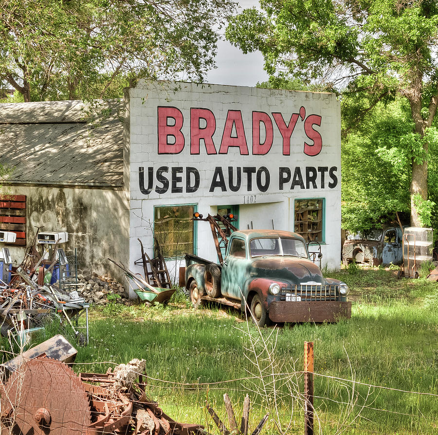 Brady\'s Used Auto Parts 3a Photograph by Chad Rowe