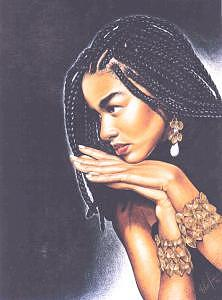 Braided Beauty Drawing by Chamar Cooper