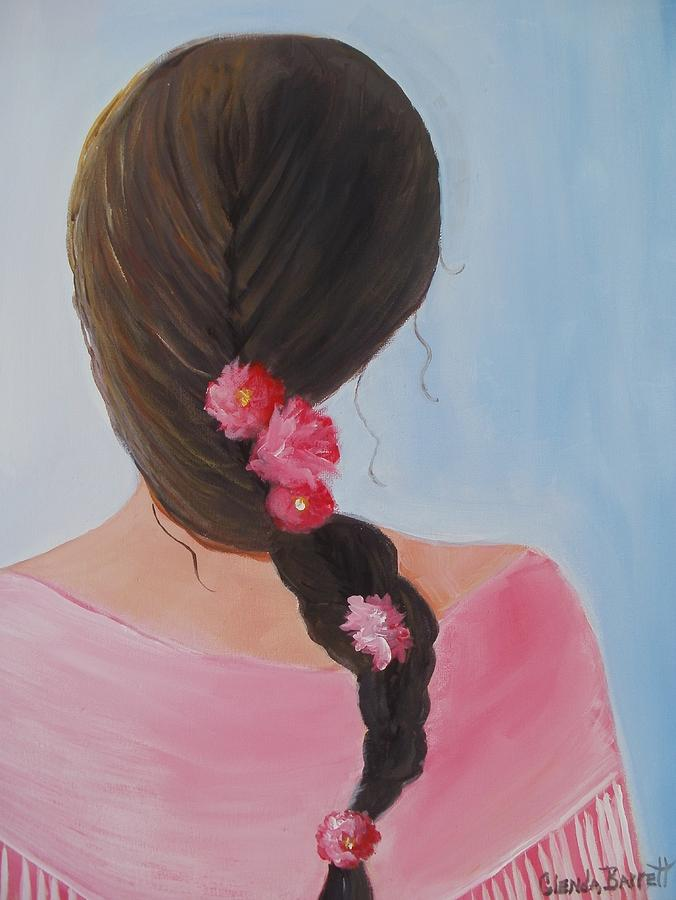 Original Painting - Braided Hair by Glenda Barrett