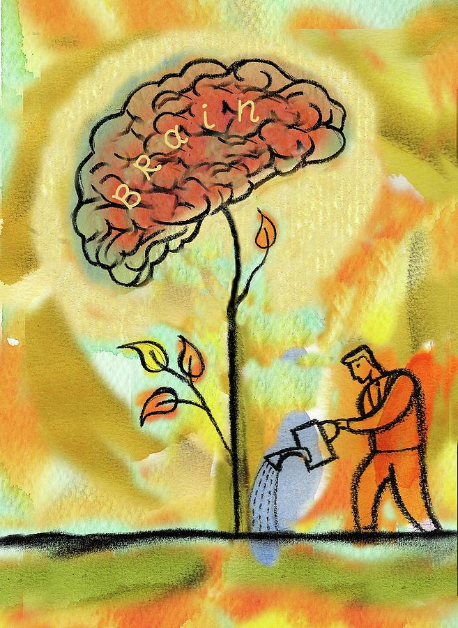 Brain Care Painting by Leon Zernitsky