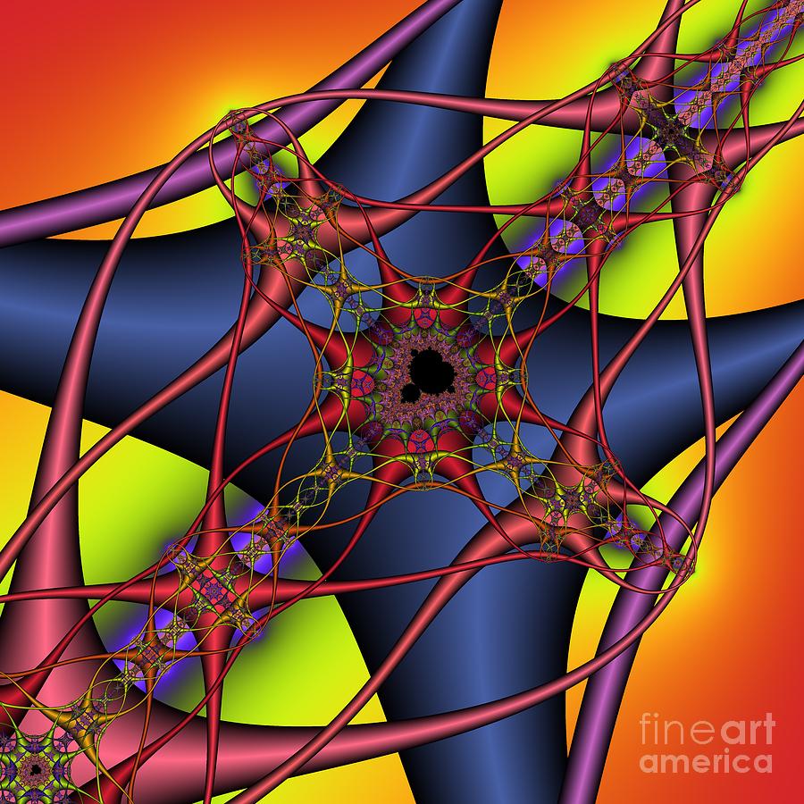 Abstract Digital Art - Brain Cells 134 by Rolf Bertram