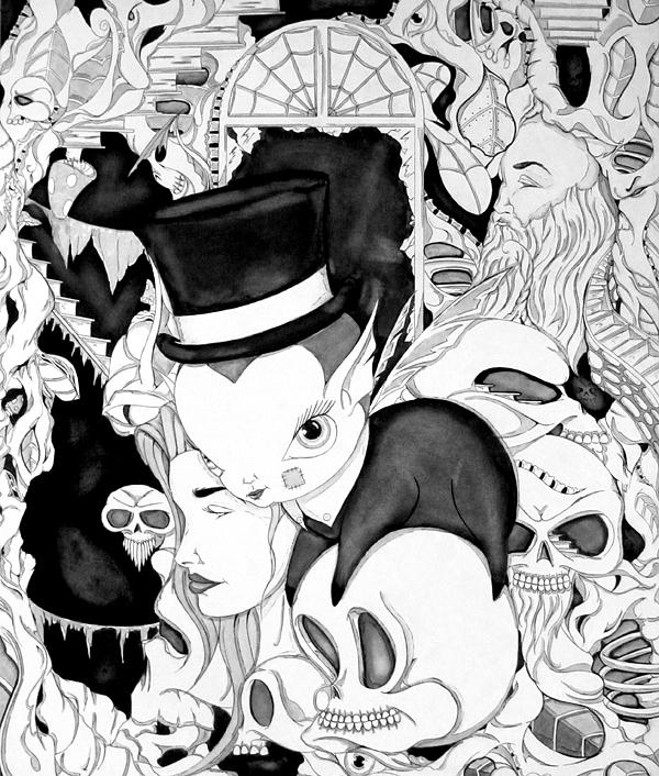 Brain Child Drawing by Nathan  Miller