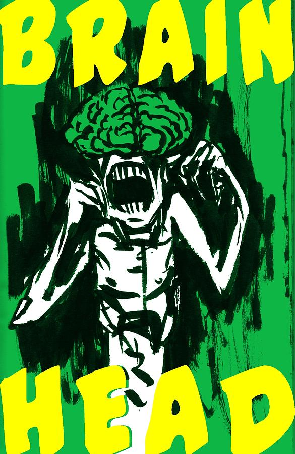 Brain Head Drawing by Rob Moran