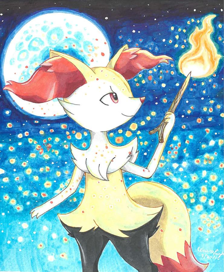 9ac17758f Braixen Illustration Drawing by Benjamin Pugh