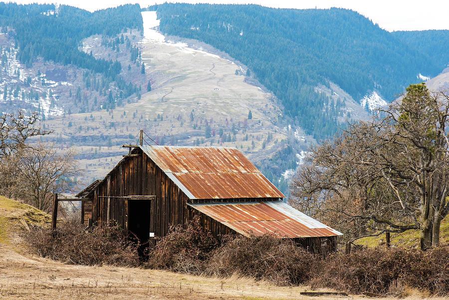 Bramble Photograph - Bramble Bound Barn by Tom Cochran