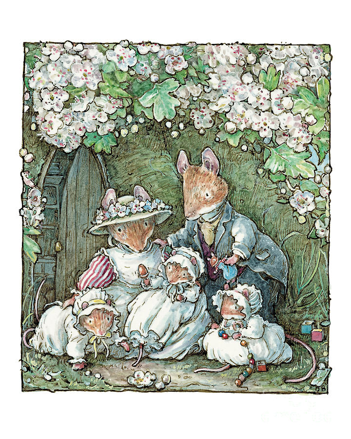 Brambly Hedge Drawing - Brambly Hedge - Poppy Dusty And Babies by Brambly Hedge