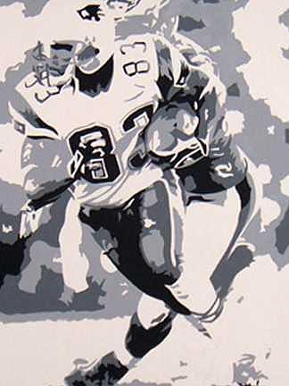 Football Painting - Branch Commissioned Portrait by Michael James  Toomy