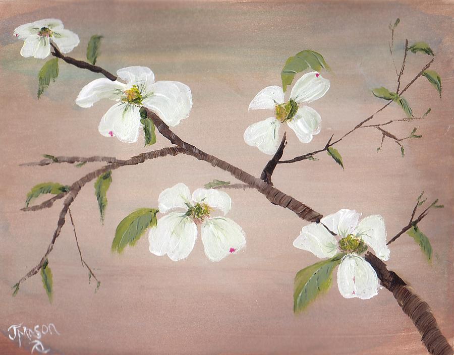 Dogwood Painting - Branch by Jessica Mason