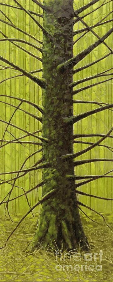 Encaustic Mixed Media - Branch Monster by Andrea Benson