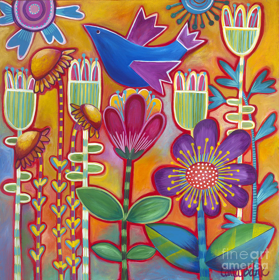 Bird Painting - Brand New Day by Carla Bank