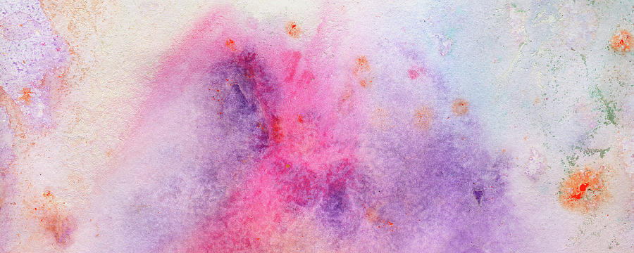 Brand New Morning Bright Colorful Pastel Abstract Painting