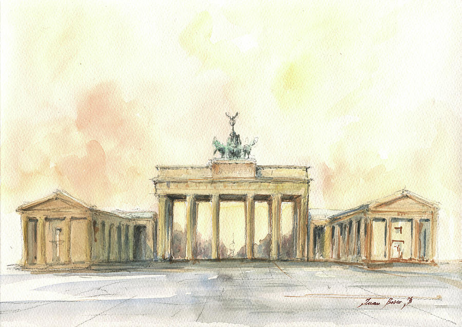 Berlin Painting - Brandenburger tor, berlin by Juan Bosco