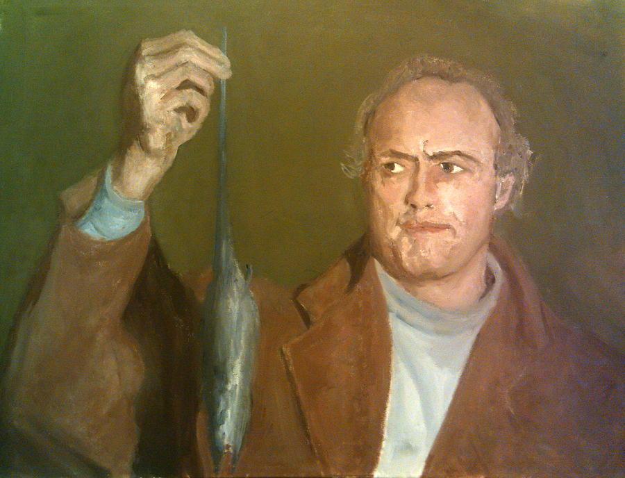 Marlon Brando Painting - Brando And The Rat by Peter Gartner