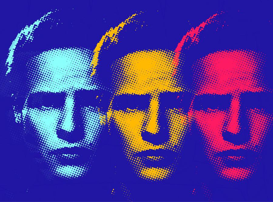 Brando Mixed Media - Brando Triple  by Surj LA
