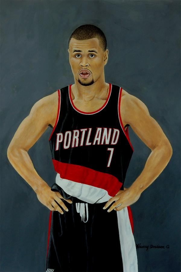 Sports Painting - Brandon Roy  by Henry Frison
