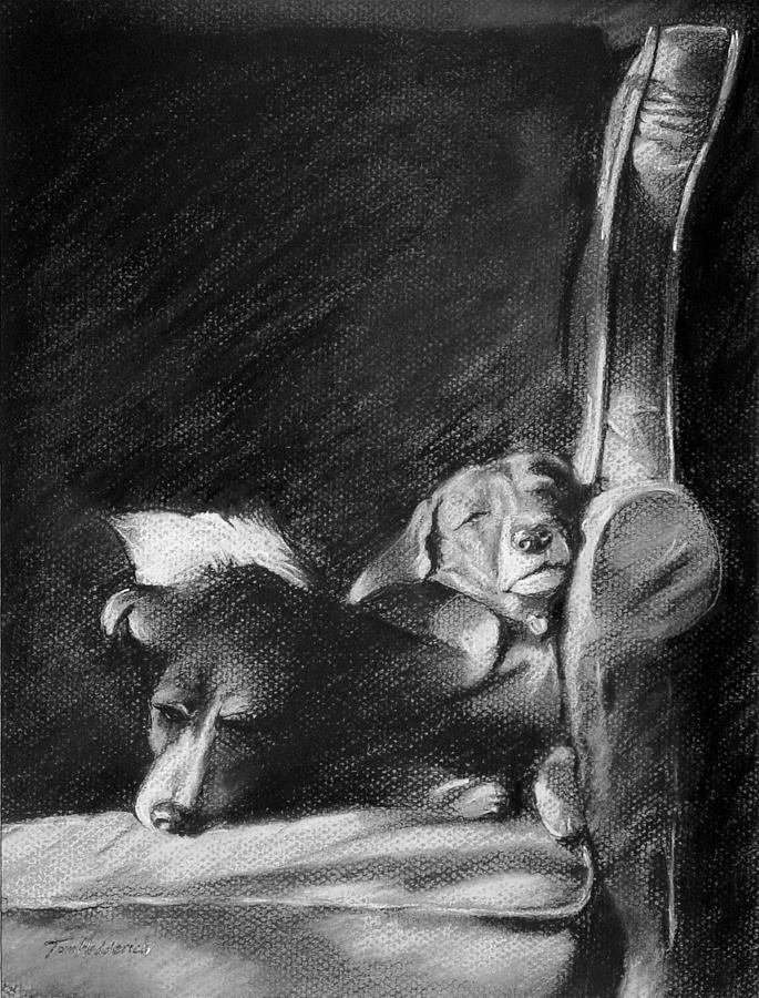 Sisters Drawing - Brandy And Schnapps by Tom Hedderich