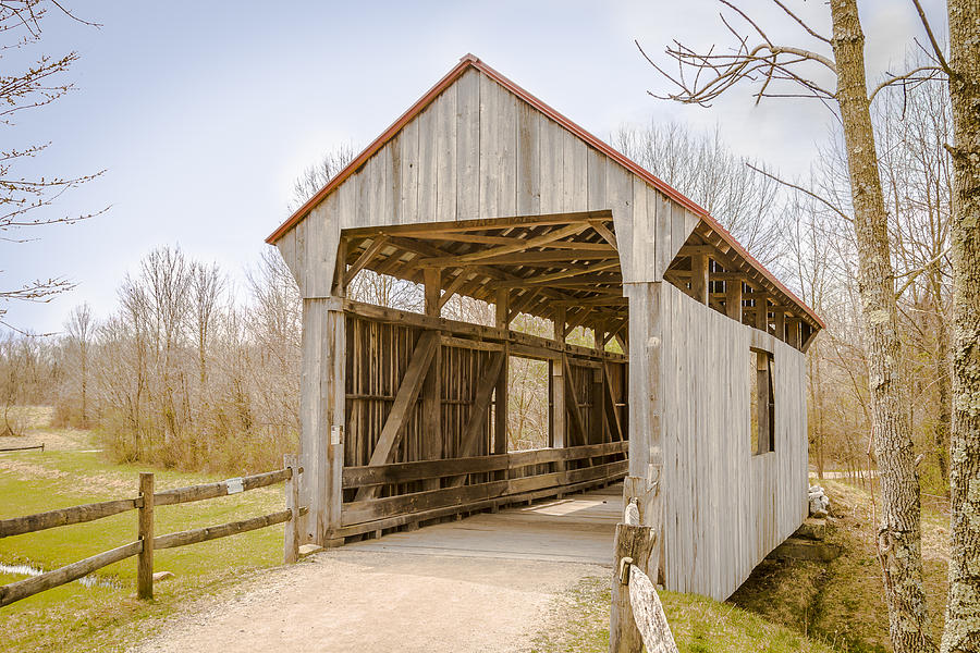 Brannon/wesner/blackburn Covered Bridge Photograph