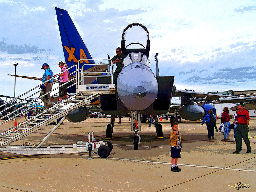 Airport Photograph - Branson Airport Airshow by Julie Grace