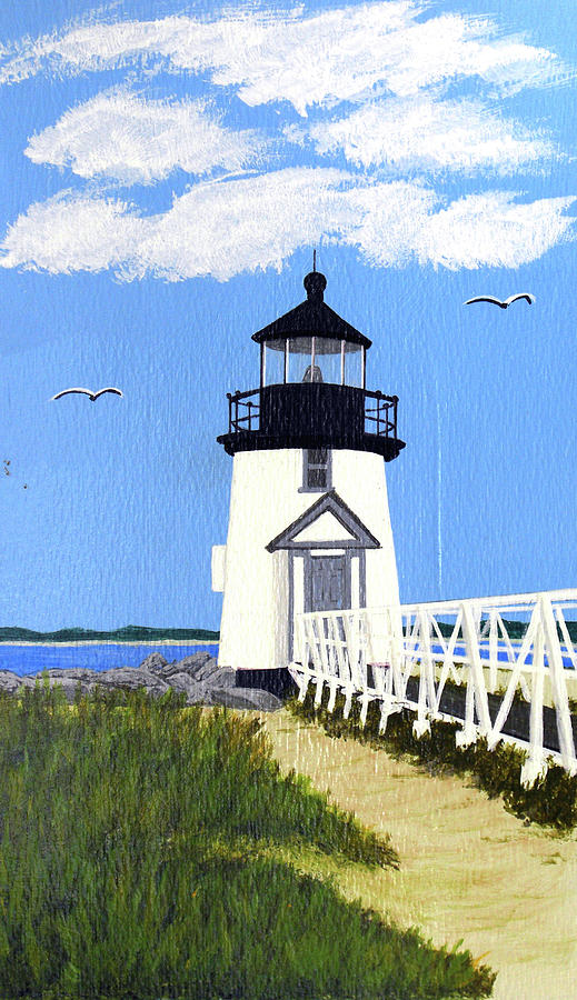 Lighthouse Painting - Brant Point Lighthouse Painting by Frederic Kohli