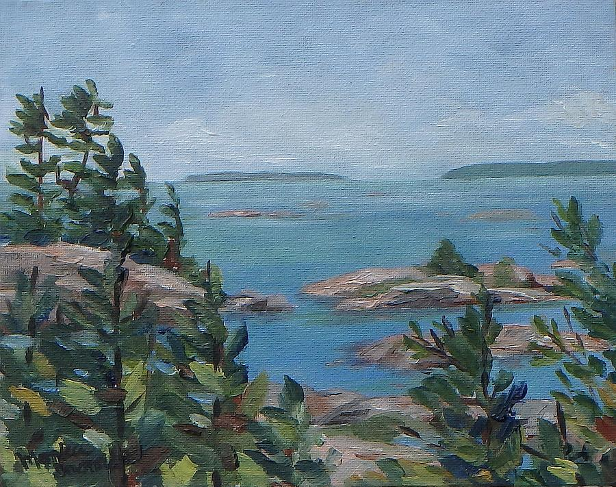 Original Painting - Bras Collins Inlet, Killarney by Monica Ironside