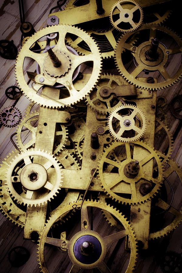 Brass Clock Gears Photograph By Garry Gay