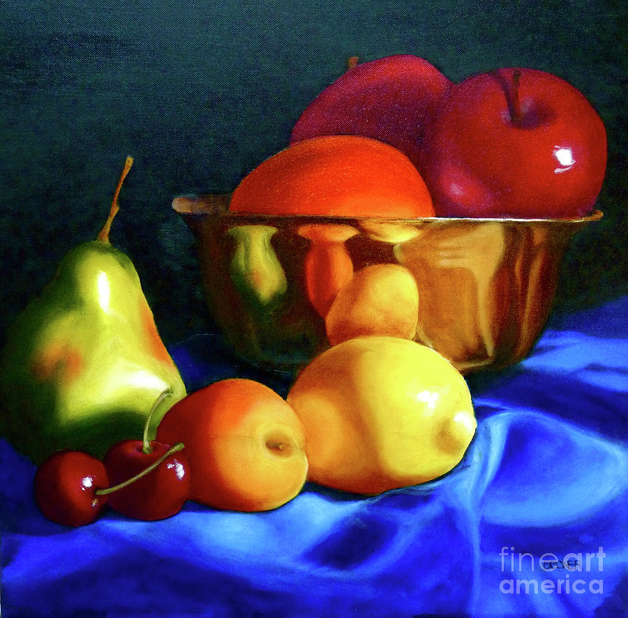 Still Llife Painting - Brass Ensemble by Susan A Becker