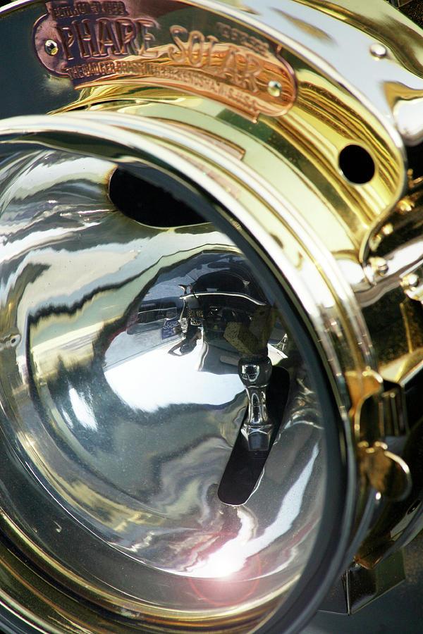 Pebble Beach Photograph - Vintage Brass Headlamp by Ave Guevara