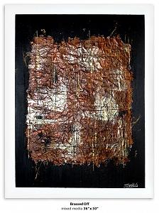 Abstract Painting - Brassed Off by Susie Gilmour