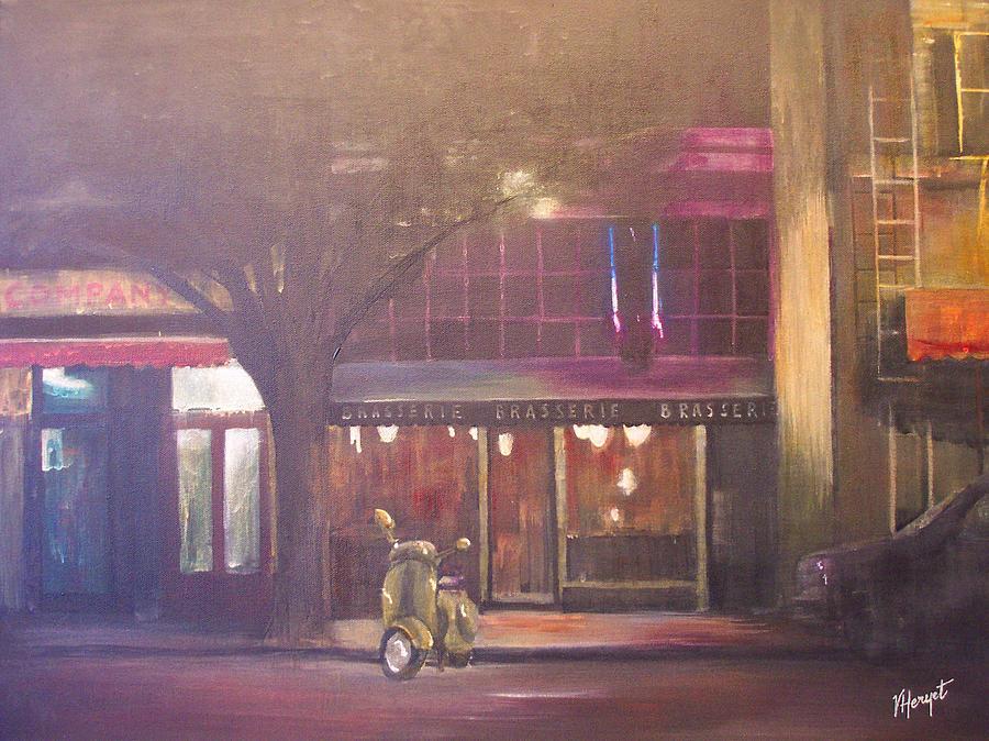 Victoria Painting - Brasserie by Victoria Heryet
