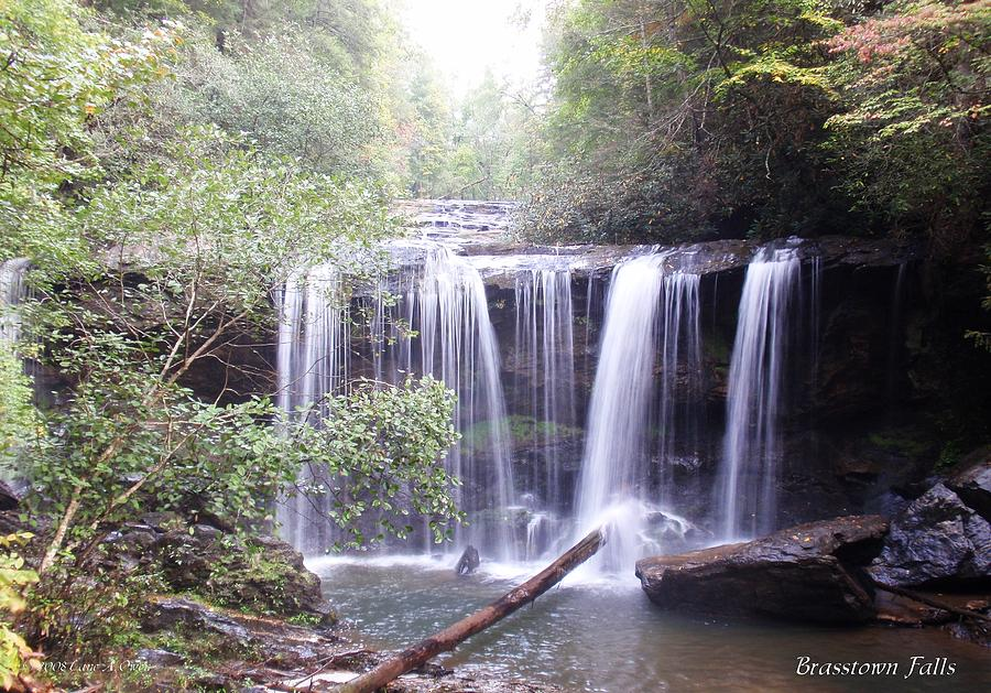 Waterfalls Photograph - Brasstown Falls by Lane Owen