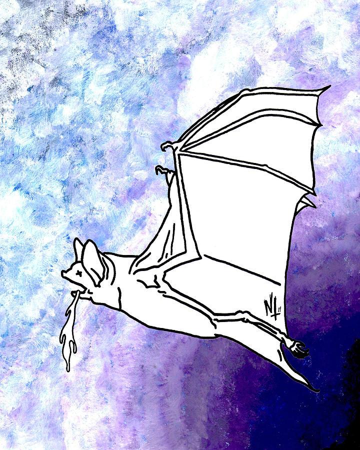 Bat Painting - Brat by Nicholas Tullis
